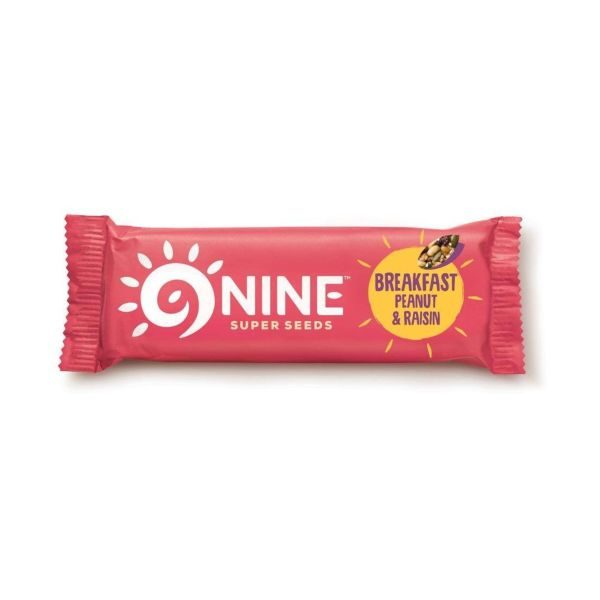 9Nine Breakfast Peanut & Raisin Bar