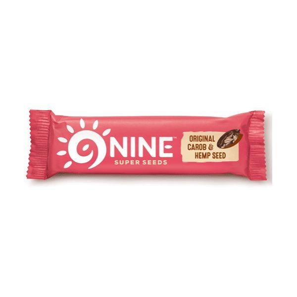 9Nine Original Carob & Hemp Seed Bar