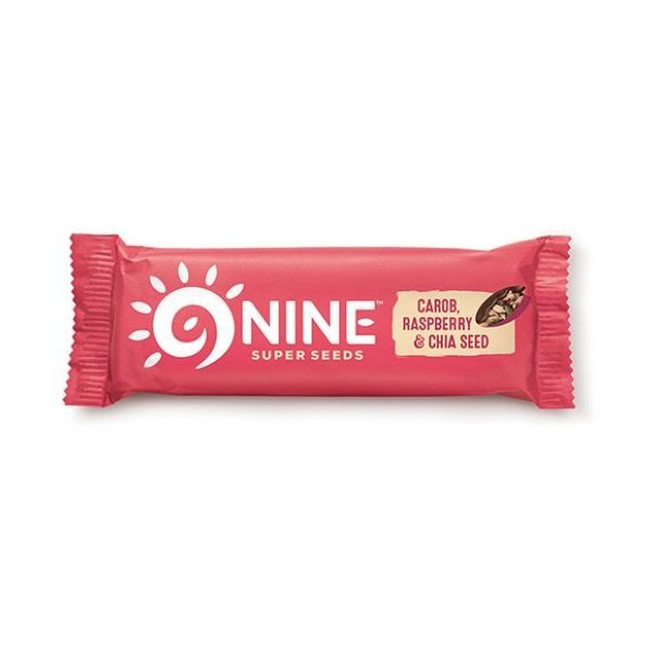 9Nine Carob Raspberry & Chia Seed Bar