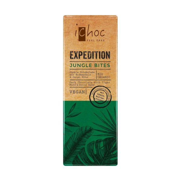 iChoc Expedition Jungle Bites Dark With Tigernuts And Cocoa Nibs