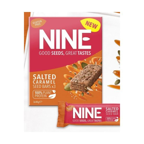 9Nine Salted Caramel Bar