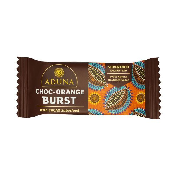 Aduna Choc Orange Burst With Cacao Superfood Energy Bar