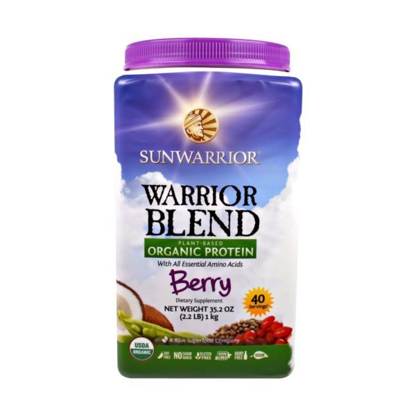 Sunwarrior Organic Warrior Blend Berry Protein