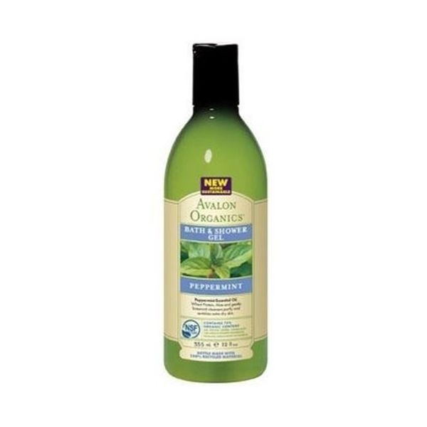 Avalon Organic Peppermint Bath & Shower Gel