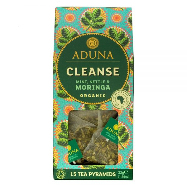 Aduna Organic Cleanse Tea With Moringa, Mint & Nettle