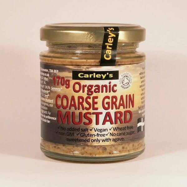 Carleys Organic Cornish Coarse Grain Mustard