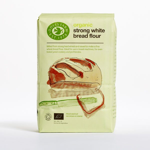 Doves Farm Organic Strong White Flour Unbleached 1.5kg x 5