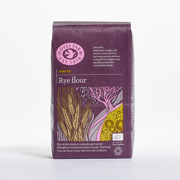 Doves Farm Organic White Rye Flour 1kg x 5
