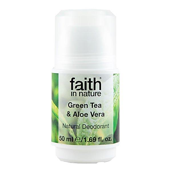 Faith In Nature Roll-On Deodorant Aloe Vera & Green Tea