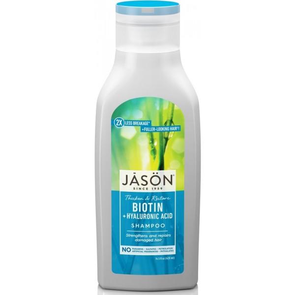 Jason Thicken & Restore Biotin + Hyaluronic Acid Shampoo