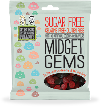 Free From Fellows Midget Gems 100g x 10