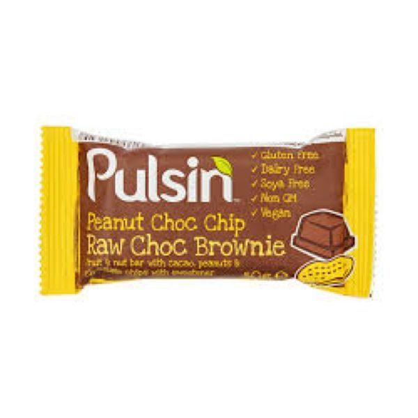 Pulsin Peanut Choc Chip Raw Choc Brownien 50g