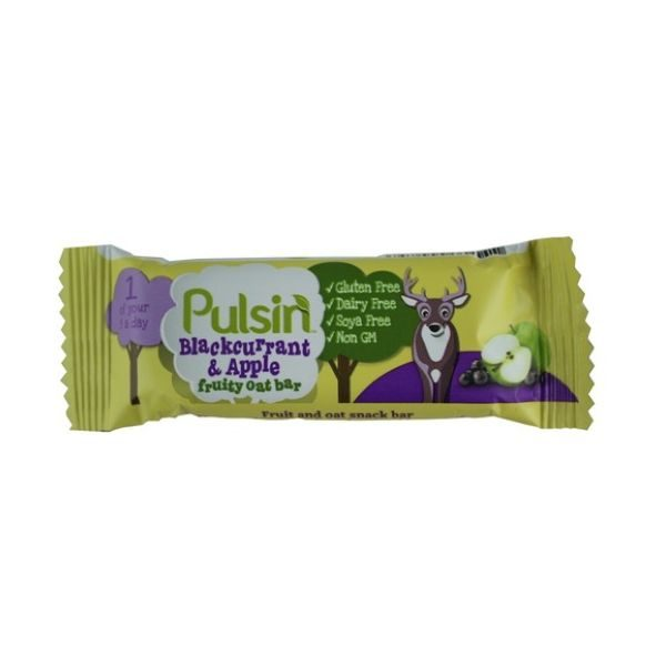 Pulsin Blackcurrant Apple Fruity Oat Bars 25g