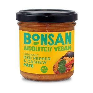 Bonsan Organic Red Pepper and Cashew Pate 130g