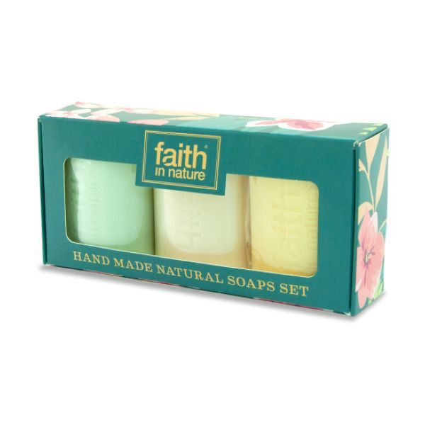Faith In Nature Handmade Natural Soaps Gift Pack