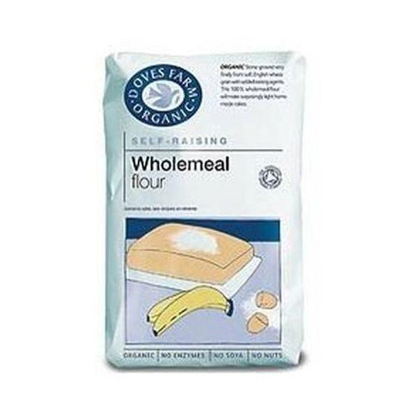 Doves Farm Organic 100% Wholemeal Self Raising Flour Stoneground 1kg
