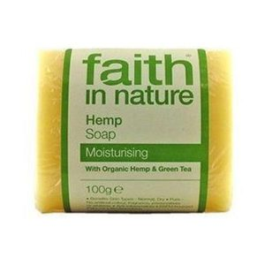 Faith In Nature Pure Vegetable Soap Hemp Lemongrass & Green Tea 100g