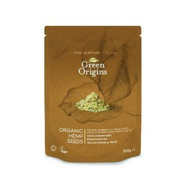 Green Origins Organic Shelled Hemp Seeds (Raw) 200g