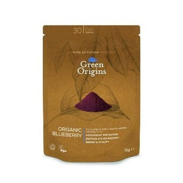 Green Origins Organic Blueberry Powder (Freeze Dried) 75g
