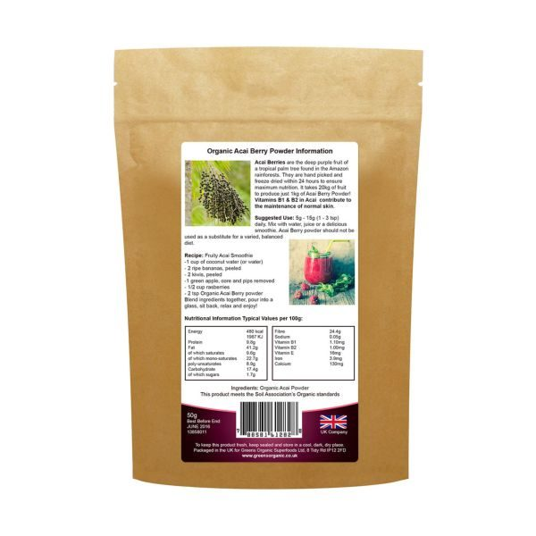 Greens Organic Organic Acai Berry Powder 50g