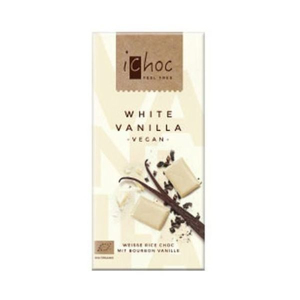 iChoc White Vanilla Rice Chocolate 80g