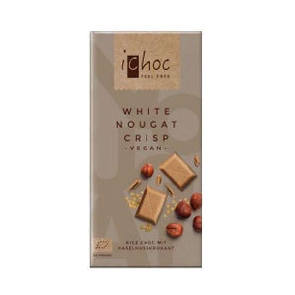 iChoc White Nougat Crisp Rice Choc 80g