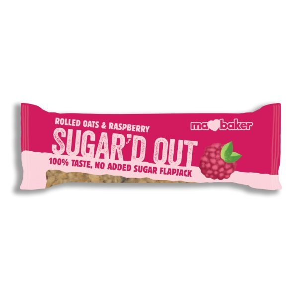 Ma Baker Sugar'D Out No Added Sugar Flapjack - Raspberry 50G