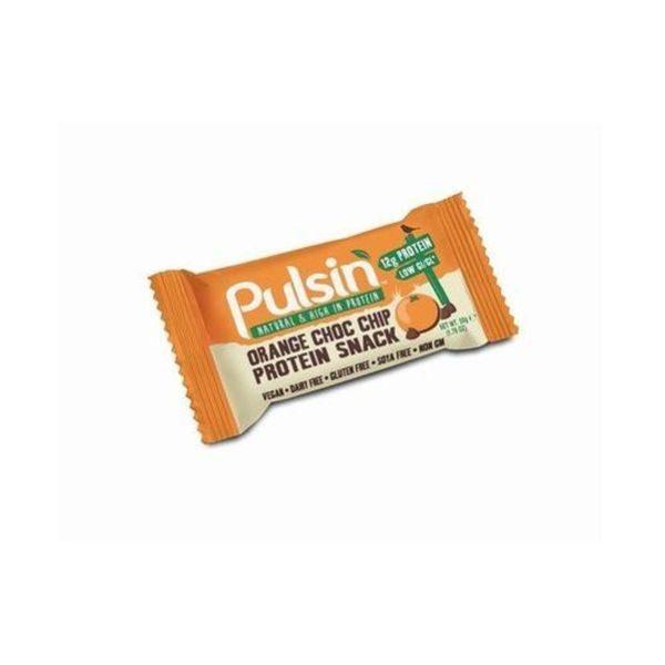 Pulsin Orange Choc Chip Protein Snack 50g