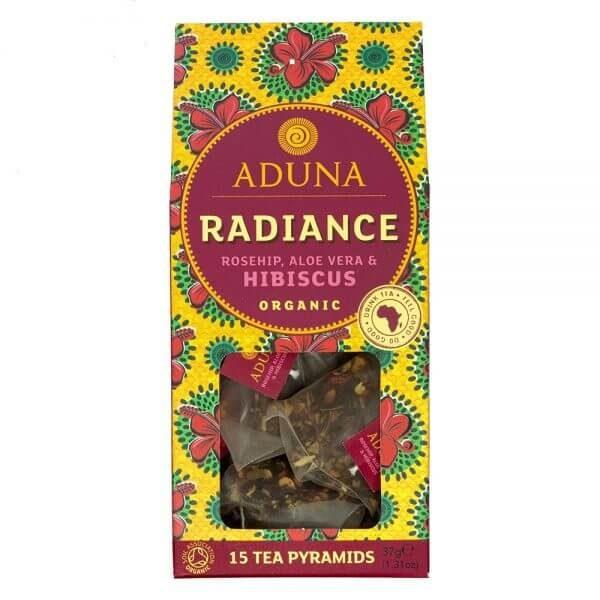 Aduna Organic Radiance Tea With Hibiscus, Rosehip & Aloe Vera