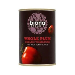 Biona Organic Whole Plum Tomatoes