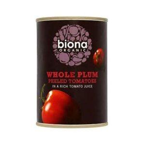 Biona Organic Whole Plum Tomatoes