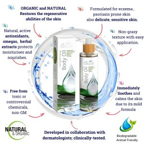 All Naturals - Organic Calming Skin Body Oil for Eczema and Psoriasis