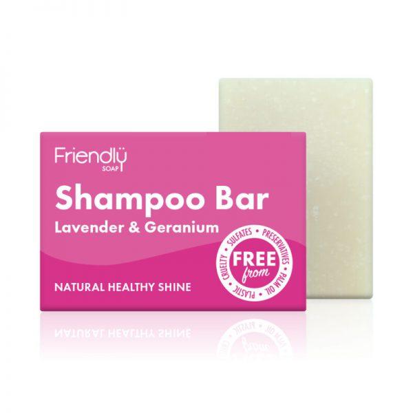 Friendly Soap Shampoo Bar Lavender & Geranium
