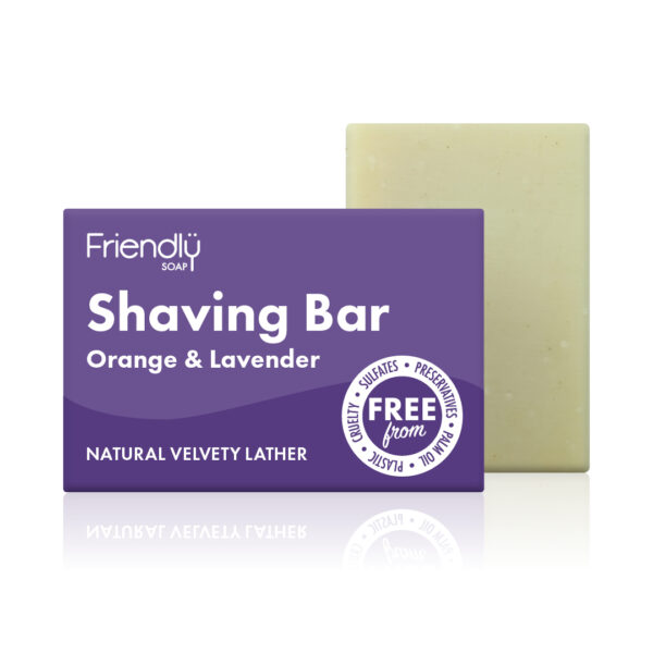 Friendly Soap Shaving Bar Orange & Lavender
